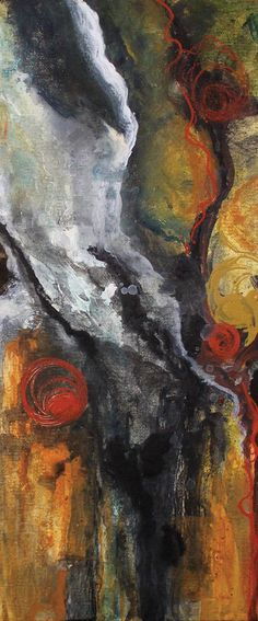 """SOLD, SOLD, SOLD!!!  Detail picture of """"State of Mind"""" ©2015 by Laura Swink, 12-inches wide x 16-inches high. Buy at www.lauraswink.com/contact  $50. Abstract Expressionism, Abstract Art, Abstract Paintings, Modern Artists, Western Art, Texture Painting, Home Decor Wall Art, Color Pallets, Contemporary Paintings"""