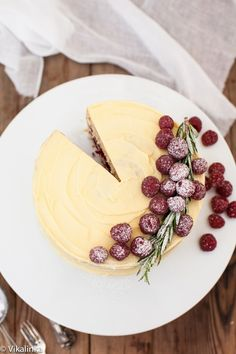 Rasberry vanilla cake layered with mascarpone cream and raspberry compote