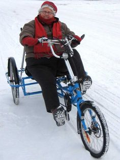 winter tricycle adult commute snow tires