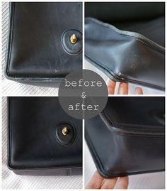 how to repair purse, fixing old leather, coach repair, leather fix up Handbags On Sale, Luxury Handbags, Coach Handbags, Coach Purses, Purses And Handbags, Designer Handbags, Ladies Handbags, Popular Handbags, Designer Purses