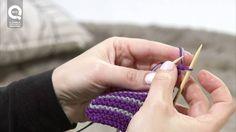 Lavorare a maglia con due colori, senza tagliare i fili e in modo che i cambi non si vedano.