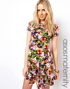 Love this #Asos #Floral #Maternity Dress for spring.