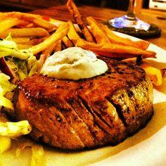 #meat #beefsteak #food #cooking #beef #medium-rear #recipes #fries #salad #eat #lovetoeat  #meal