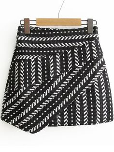 Shop Black Tribal Pattern Asymmetrical Skirt online. SheIn offers Black Tribal Pattern Asymmetrical Skirt & more to fit your fashionable needs.