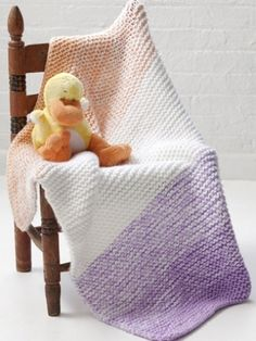Soft 'n Simple Baby Blanket By Donna Childs - Free Knitted Pattern - (yarnspirations)