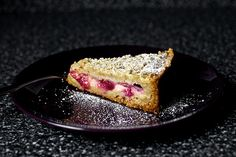 hazelnut crumble plum custard tart thing