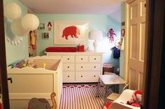 Molly's Vintage Room with Pops of Red