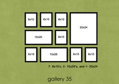 photo wall layout