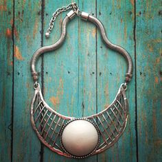 Silver Tribal Couture Necklace