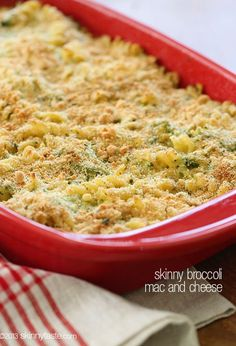 This baked broccoli macaroni and cheese is vegetarian-friendly and comfort food at its finest.