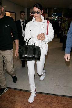 Bella Hadid makes airport to Paris streets look chic