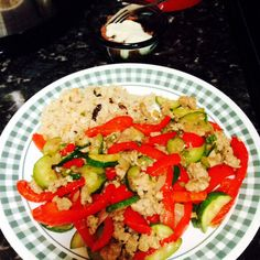 Hot Plate: Moroccan-- Ground Chicken, Red Bell Pepper, Zucchini ...
