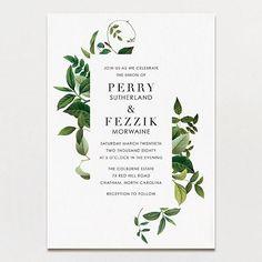 Tender Tendrils Wedding Invitation - $155 for 60 w/envelopes included