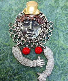 Pin by jennifer thompson on angelsfairiesgoddesses pinterest assemblage jewelry brooch art doll angel fairy goddess steampunk handmade gift for her fandeluxe Image collections