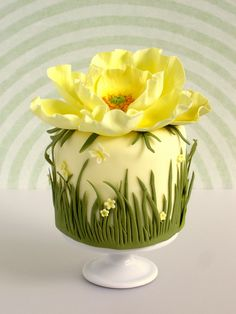 Little cake, major work. Yellow Poppy Cake ~Made With Love~
