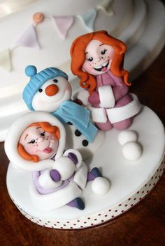 little girls in the snow - Cake by Zoe's Fancy Cakes