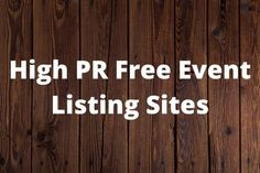 20 High PR Free Event Listing Sites List   Blog Junta What Is Event, Make A Graph, Event Organization, Simple Words, Search Engine Optimization, Seo
