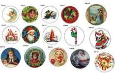 Vintage Christmas Pins with needle or magnet by Picabu on Etsy, $2.00