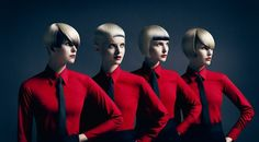Kraftwerk changed music youth culture and fashion. the band formed by Ralf Hütter and Florian Schneider in fronted by them until Schneider's departure in 2008 Florian Schneider, Short Hair Cuts, Short Hair Styles, Editorial Hair, Hair Shows, Youth Culture, Creative Hairstyles, Future Fashion, About Hair