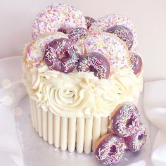 Doughnut/Donut Themed Birthday Cake lovecatherine.co.uk Instagram catherine.mw xo