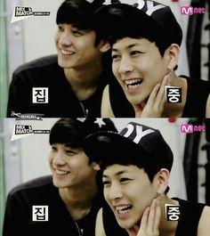 Chanwoo & Yunhyeong  long lost brother . lol
