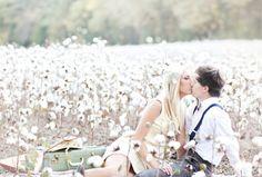 Super-romantic and dreamy shoot in a cotton field.