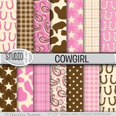 Hey, I found this really awesome Etsy listing at https://www.etsy.com/listing/239316083/western-cowgirl-patterns-digital-paper