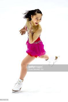 Wakaba Higuchi of Japan performs during the Women's Short Program on Day 1 of the ISU World Junior Figure Skating Championships at Tondiraba Ice Arena on March 4, 2015 in Tallinn, Estonia.