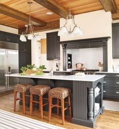 A grey kitchen. by marcia