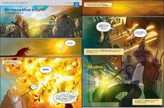 Dio manda Mosè in Egitto | Storie bibliche a fumetti aiuta i bambini ad avicinarsi ai racconti biblici