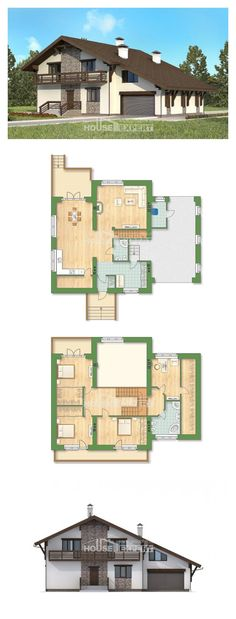 Two Story House Plans with mansard roof with garage in back, big Planning And Design, House Expert House Layout Plans, Modern House Plans, Small House Plans, House Layouts, House Floor Plans, Home Design Plans, Plan Design, Duplex Plans, Planer