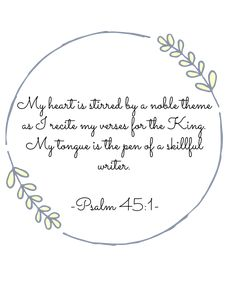 Psalm One of my favorite verses. Psalm 45, My Church, Stress Free, Art Work, Bible Verses, Writer, Study, Inspirational, Quotes