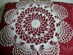 Antique Lace Doily - Hand Crocheted Doily - Table Linens - Wedding Lace - Dresser Doily - Large Antique Doily
