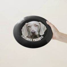 Personalized Custom Dog Photo & Name Frisbee Black - tap/click to get yours right now!  #toy #frisbee #personalized #custom #dog