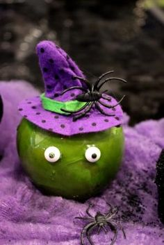 Witch and Spider Candy Apple