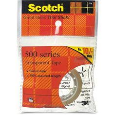 Transparent Tape — Scotch Transparent Tape is the classic, glossy finish tape. A great value for general purpose wrapping, sealing and mending. Clear when applied and does not yellow.