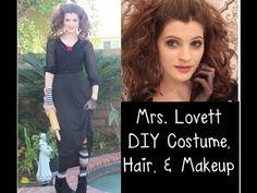 Mrs. Lovett DIY Costume, Hair, & Makeup (Sweeney Todd) - YouTube https://www.youtube.com/watch?v=tJy7ES_97GA