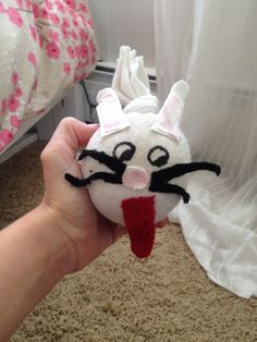 Use old socks and rice to make a fun sock doll for kids