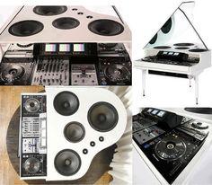 DJ piano set-up
