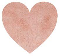 alfombra corazon rosa LOVE - minimoi