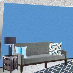 off smurf blue with lapiz lazule carpet