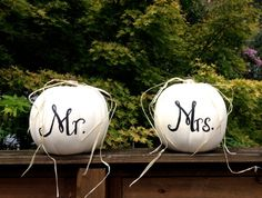 Harvest Fall Wedding Reception Decor Mr and Mrs by aRestfulHome October Wedding, Wedding 2015, Fall Wedding, Dream Wedding, Our Wedding, Pumpkin Wedding, Wedding Reception Decorations, Wedding Themes, Wedding Ideas
