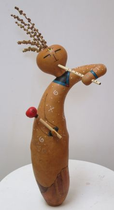 kokopelli gourd figure...more adorable Cyndee  [ eventually will learn to spell her name correctly...sigh..]