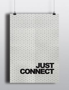 Posters decorativos just connect