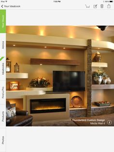 Love the fireplace