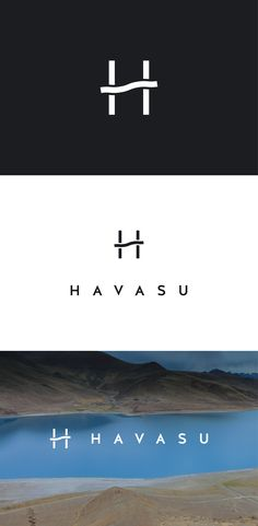 "(Havasu) Logo design for an Arizona-based app development agency that has a focus on minimalist and clean looking applications. The mark is based on the letter ""H"" with stylized waves incorporated into it. Designed by LET'S PANDA studio, Vancouver."