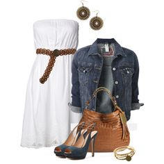 "Such a cute summer outfit for a night on the town-""Denim Shoe"" by michelled2711 on Polyvore"