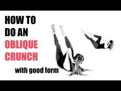 HOW TO DO AN OBLIQUE CRUNCH - Tutorial on how to exercise your abs and waist with good form. - YouTube Lucy Wyndham, 4 Minute Workout, Oblique Crunches, The Body Book, Bicycle Crunches, Running For Beginners, Arm Fat, Loving Your Body, Workout Videos