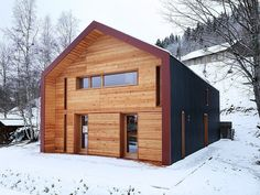 The House in Vallée De Joux by Ralph Germann Architects in Le Chenit, Switzerland is a winter home surrounded by nature. Enjoy!