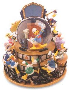 Disney Donald Duck Through The Years Snowglobe